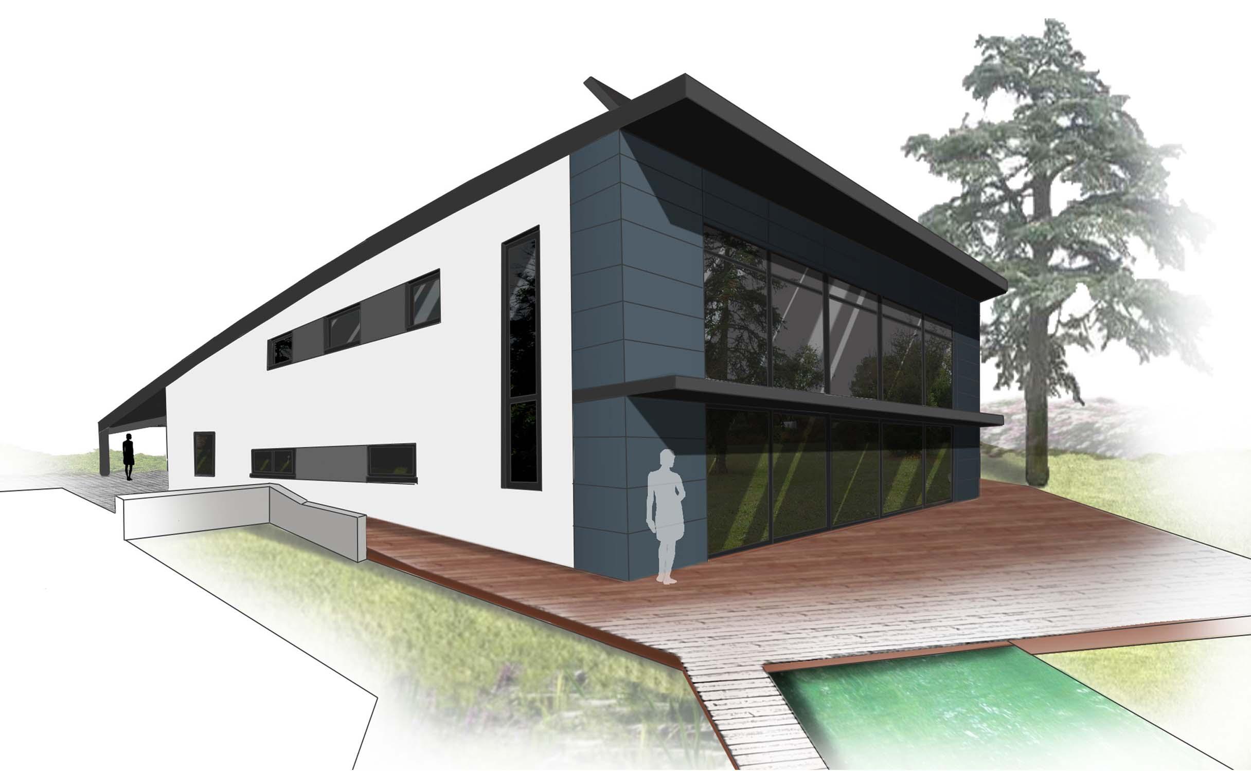 projet avec toit v g talis sud couedel design herve couedel architecte d 39 interieur. Black Bedroom Furniture Sets. Home Design Ideas