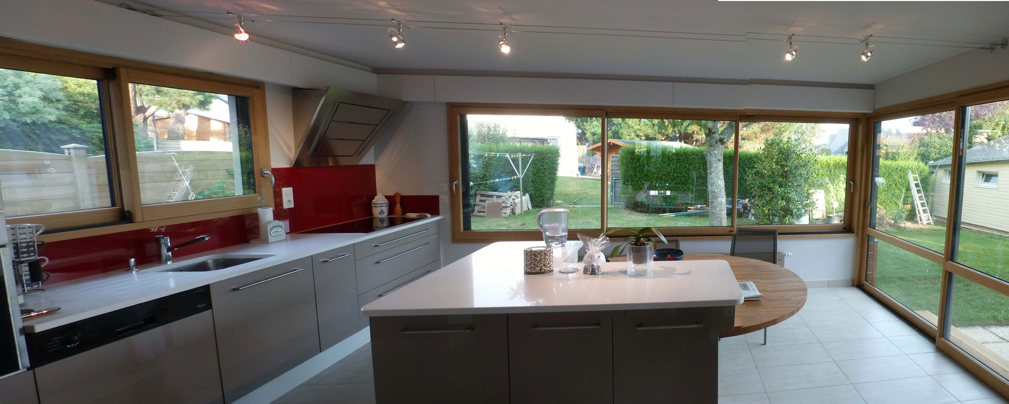 R novation de pavillon couedel design morbihan - Extension cuisine ...